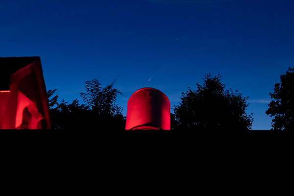 NEOWISE Setting Behind The Greenwood Observatory at UACNJ