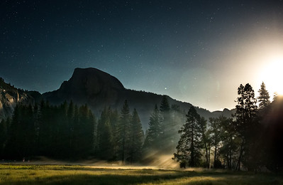 Moon Lit Yosemite Meadows