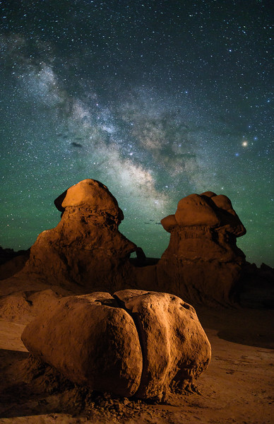 Goblin Valley State Park at Night