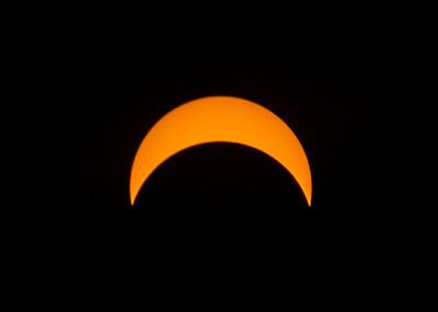 partial solar eclipse 8/21/17, through solar filter, at peak