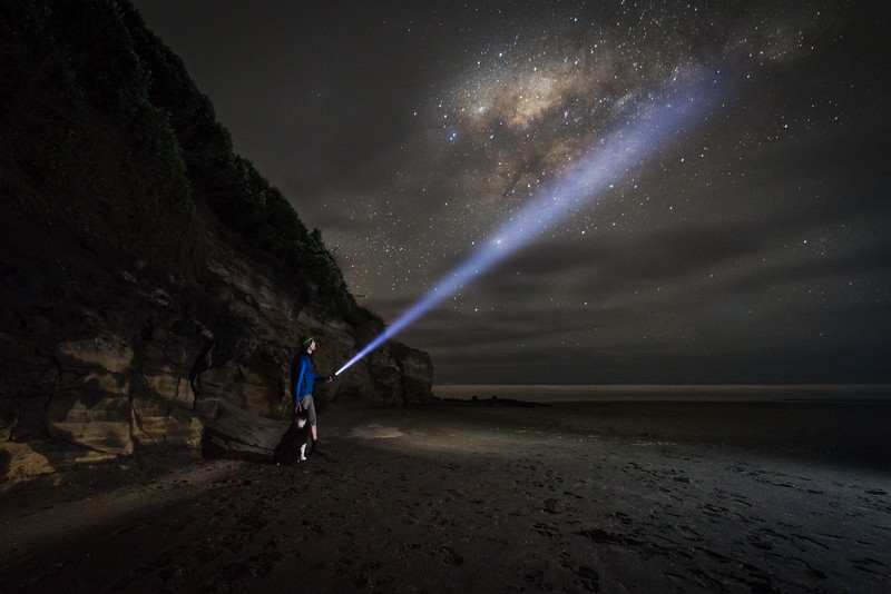 Light Painting on the Milky Way