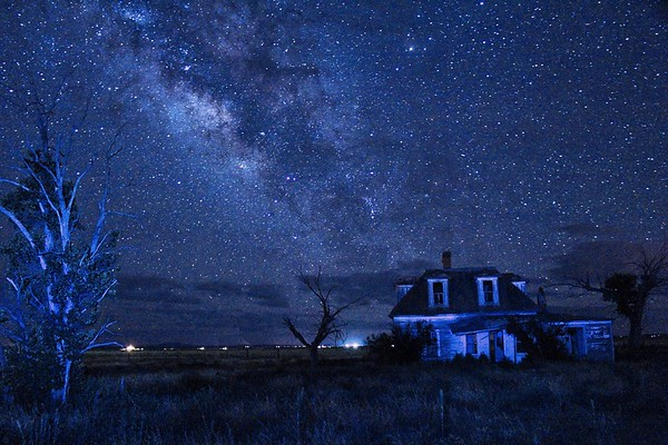 Sears House under the Milky Way