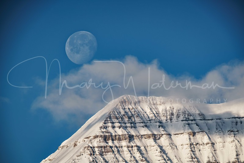 Moonset Over Mount Timpanogos