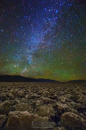 """Starblast,"" Winter Milky Way over Devil's Golf Course, Death Valley National Park"