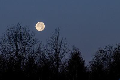 Morning Moon Over Teterboro