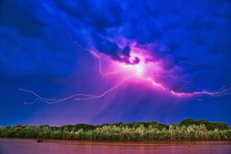July Monsoon Storm over the Rio Grande 2