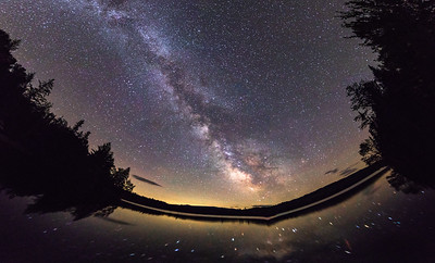 Milky Way Galaxy over Snow Lake
