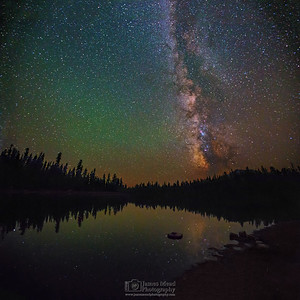 """Through the Looking Glass,"" the Milky Way over Summit Lake, Lassen Volcanic National Park, California"