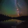 Milky Way over Summit Lake, Lassen Volcanic National Park