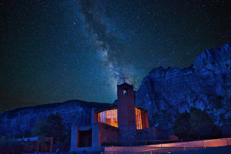 Christ in the Desert Chapel & the Milky Way