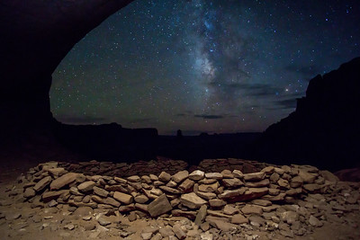 Milky Way, False Kiva Canyonlands Utah