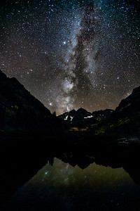 Milky Way over Maroon Bells, Aspen