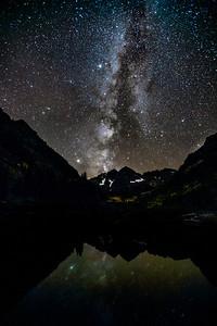 Milky Way over Maroon Bells, Aspen