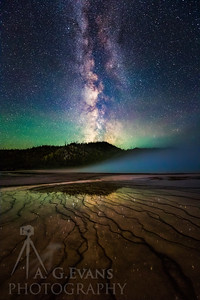 Milky Way Over Grand Prismatic Springs