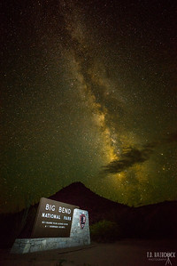 Milky Way over the Big Bend Entrance. Big Bend National Park