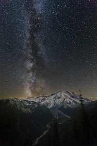 Milky Way over Mt. Rainier, WA
