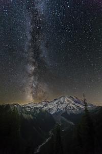 Milky Way over Mt. Rainier, WA