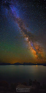 The Milky Way over Crater Lake, Crater Lake National Park