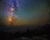 The Milky Way over Brokeoff Mountian and Mount Diller, Lassen Volcanic National Park