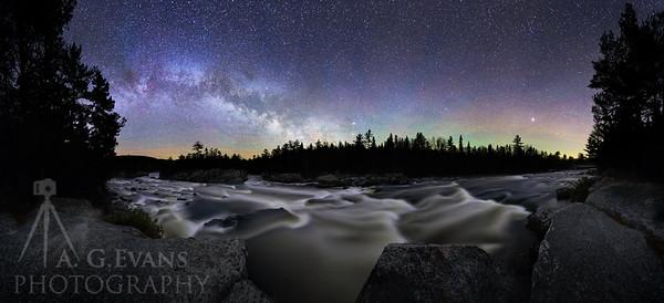 Milky Way Over Crib Works Rapids