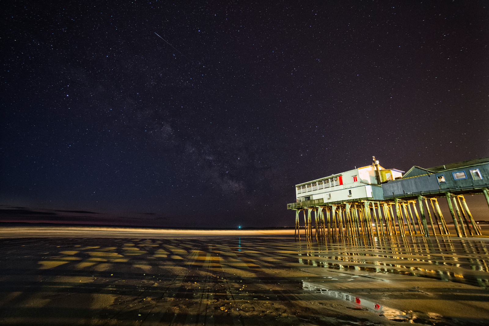 Night Skies over Old Orchard Beach Pier