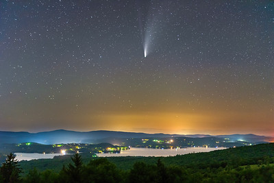 Comet NEOWISE over Lake Sunapee 2