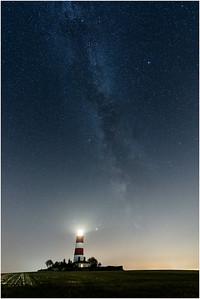 Happisburgh Lighthouse and Milky Way, Happisburgh, Norfolk, United Kingdom, 14 September 2020