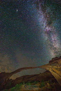 The Milky Way over Landscape Arch, Arches National Park