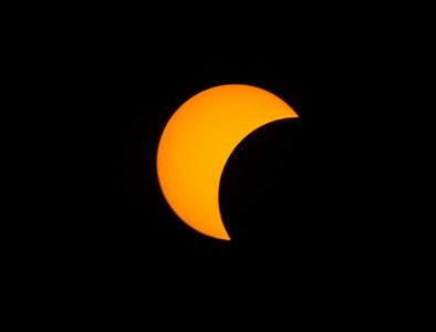 partial solar eclipse 8/21/17, through solar filter