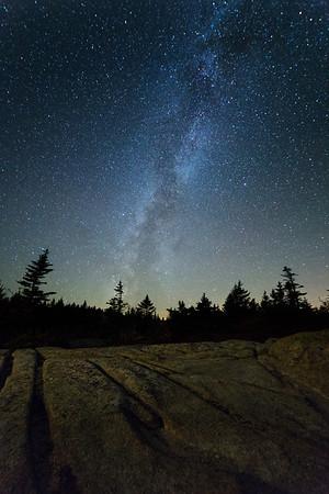 Milky Way on Cadillac Mountain
