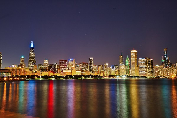 Chicago Skyline Reflection