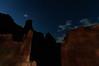 Night Shapes at Fisher Towers, Utah