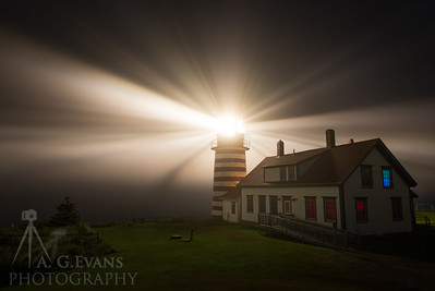 West Quoddy Head Light in the Fog