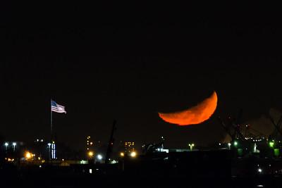 35% Waxing Crescent Moon