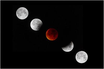 Lunar eclipse, Colby, Norfolk, United Kingdom, 28 September 2015