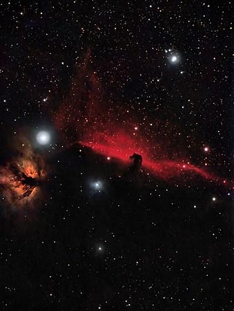 IC434 - The Horsehead and Flame Nebulas