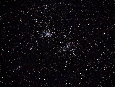 Wide field view of double cluster