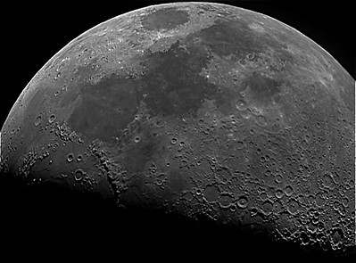 Moon with 90mm refractor