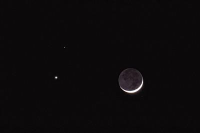 Moon, Venus, and Mars