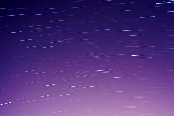 December 2010 - Geminid meteor shower (time stack)