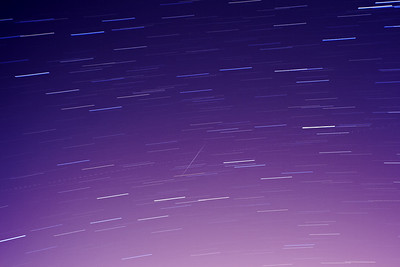 December 2010 - Geminid meteor shower (time stack)