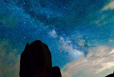Milky Way view from Joshua Tree National Park, California