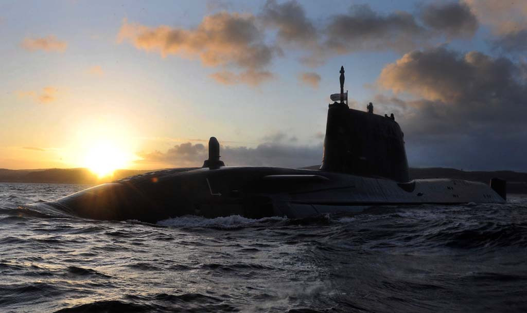 "HUNTER KILLER SUB ASTUTE ARRIVES AT HER HOME PORT <br /> <br /> <br /> <br /> The biggest and most powerful attack submarine ever built for the Royal Navy – Astute – today sailed into her home base on the Clyde.<br /> <br /> <br /> <br /> Measuring nearly one hundred metres from bow to stern, Astute is longer than ten London buses. When fully loaded, she will displace 7,800 tonnes of sea water, equivalent to 65 blue whales. <br /> <br /> The Astute submarine has the latest stealth technology, a world-beating sonar system and is armed with 38 torpedoes and missiles - more than any previous Royal Navy submarine. She will be able to circumnavigate the globe while submerged, and advanced nuclear technology means that she will never need to be refuelled.<br /> <br /> Astute will be followed in due course by her sister submarines Ambush, Artful and Audacious. These four comprise the first of the expected seven submarines in the Astute Class. The Astute class will carry the potent Spearfish Heavyweight torpedo which can destroy submarines or surface ships, and Tomahawk cruise missiles that can hit inland targets with pinpoint accuracy. The boats will have 50 per cent more firepower than the existing Trafalgar class submarines they will succeed in service. <br /> <br /> After touring Astute, the Minister for Defence Equipment and Support, Quentin Davies, said: <br /> <br /> ""This is a significant milestone for Astute as she arrives for the first time in her homeport of Faslane. The Astute class of submarines will deliver a step change in capability for defence in terms of anti-submarine and anti-surface warfare, protecting the deterrent, providing land attack and intelligence gathering. Astute will now begin a set of sea trials ahead of her full acceptance with the Royal Navy next year.""<br /> LA(PHOT) JJ Massey"