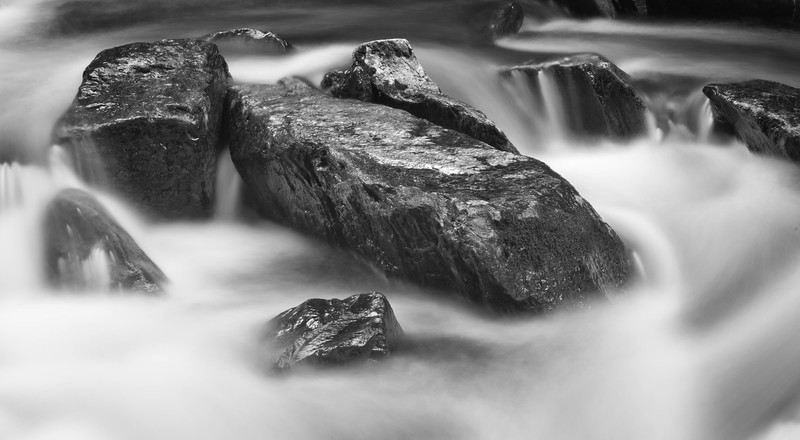 Stones in the Water - Monochrome
