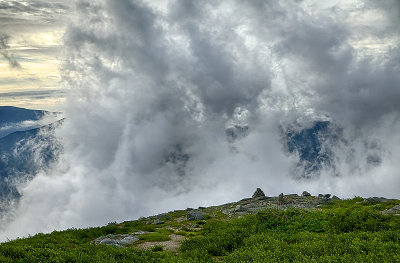 Clouds and Cairns, Mt. Washington
