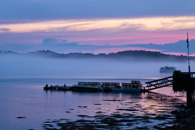 Hazy Sunset on Great Bay