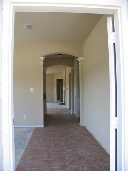 View from the front door... gotta love the arches!!