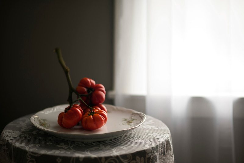 Tomatoes in Window Light