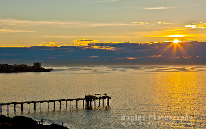 Sun and Pier