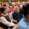 Parishioners of various faiths listen in during the Interfaith Community Gathering at Congregation Agudat Achim in Leominster on Friday evening. Ther service was to promote unity, love, respect, healing and hope on the day of the Inauguration. SENTINEL & ENTERPRISE / Ashley Green